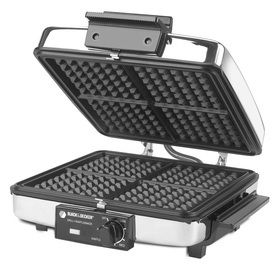 Black   Decker G48TD 3 in 1 Griddle and Waffle Maker  Retail 77 48