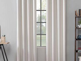 Scott living Mavis Herringbone Total Blackout Grommet Curtain Panels