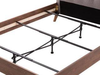 Black Steel Adjustable Center Support System Bed Frame only by Brookside black