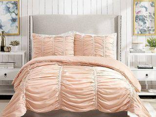 Emily Texture Comforter set Blush king