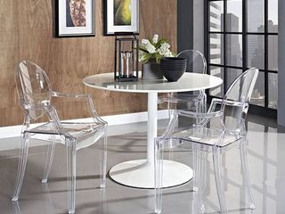 Olivia Classic Clear Dining Chair 1 only