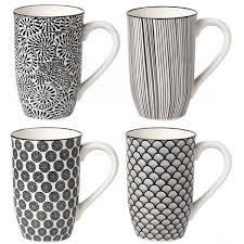 4 Piece Tall Coffee Mug Set