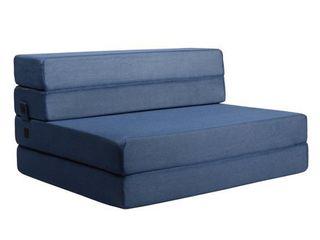 Milliard 4 5 inch Tri Fold Twin Xl Mattress and Sofa Bed  Retail 115 49