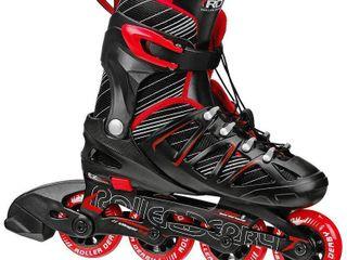 Stinger Boy s 5 2 Black Red Adjustable Inline Skates