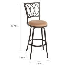 Copper Grove laren Swiveling Adjustable height Bar Stools  Set of 3  Retail 122 49 desk brown and oil rubbed bronze