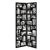 Adeco Trading 32 Opening Wood Hinged Folding Screen Style Photo Collage Picture Frame