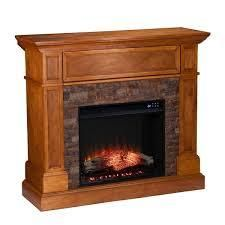 Copper Grove Tanacetum Brown Corner Electric Fireplace  Retail 607 49