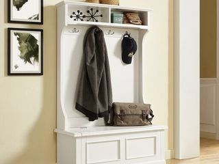 Campbell Hall Tree in White Finish  Retail 324 99