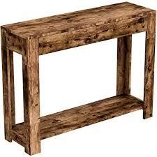 s and company console table brown reclaimed woods