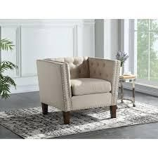 Chafee Button Tufted Accent Chair by Greyson living  Retail 177 99 sand