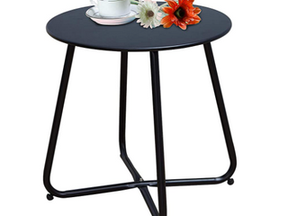 Grand Patio Steel Outdoor Round Side Table
