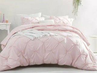 BYB Rose Quartz Pin Tuck Comforter Queen