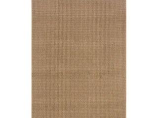Oriental Weavers of America Moluccas Solid Indoor Outdoor Polypropylene Rug  Sand