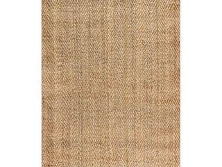 JONATHAN Y Espina Hand Woven Herringbone Chunky Jute Natural Area Rug  Retail 112 99