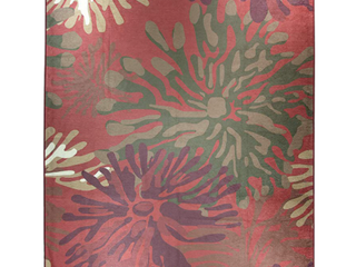Ruggable Washable Stain Resistant Pet Area Rug Mum Floral Red   8  x 10  Retail 473 49