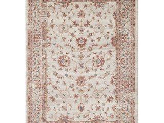 Babylon Traditional Beige  Red Indoor Abstract Rug   4  x 6