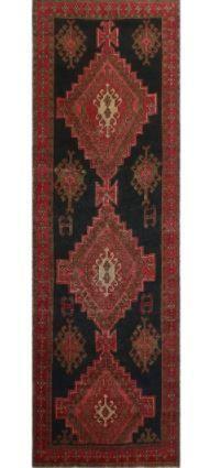 Noori Rug Vintage Distressed Ford Black Red Rug   3 2  x 10 2  Retail 413 99