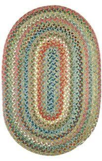 Charisma Indoor Outdoor Oval Braided Rug by Rhody Rug Peridot 7  x 9  Oval  Retail 327 99