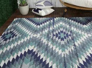 Anita Modern Aztec Trellis Indoor Outdoor Area Rug  Retail 159 49