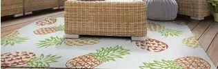 Miami Pineapples Multicolor Indoor Outdoor Area Rug   5 6  x 8  Retail 318 49