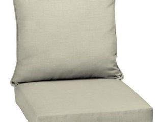 leala Texture Deep Seat Outdoor Cushion Set Tan   Arden Selections