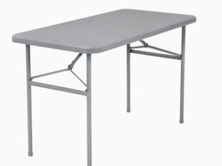 Cosco 24 in x 48 in Indoor Rectangle Resin Gray Folding Table