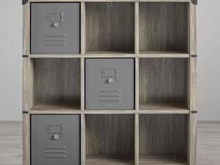 little Seeds Nova Grey Oak 9 Cube Storage Bookcase  Retail 206 49