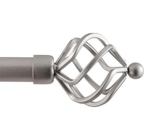 Silver Porch   Den Freret 1 inch Curtain Rod and Finial Set