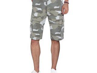 RawX Men s Belted Snap Closure Pockets Cargo Shorts Size 32