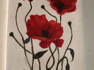 iCanvas  Poppy Bouquet I  by Emma Scarvey Canvas Print
