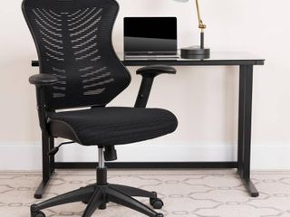 Executive Swivel Office Chair with Mesh Padded Seat Black   Flash Furniture