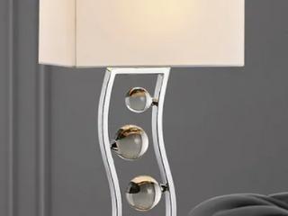 Wave 27 H Crystal Balls Metal Table lamp  Retail 129 99