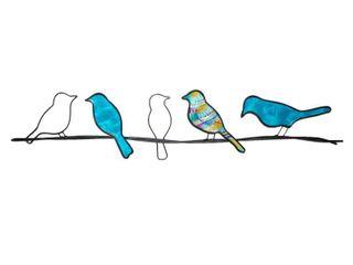 Birds On A Wire   28 x 1 x 7
