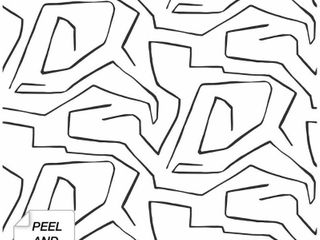 NextWall linework Maze Abstract Peel and Stick Removable Wallpaper   20 5 in  W x 18 ft  l