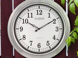la Crosse Technology 404 1246 INT 18 In  Metal In Outdoor Atomic Clock