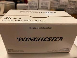 Winchester 45 Auto 230 Fmj 100 Rounds