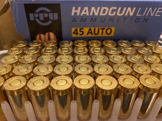 PPU Handgun line   45 ACP  FMJ  230 Grain  50 Rounds