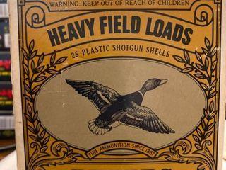 Vintage Peters 12 gauge shotgun shell box  few shells included