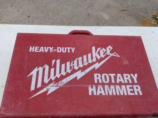 heavy duty Milwaukee 1 1 8 inch rotary hammer with bits