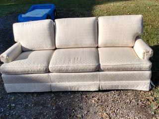 3 cushion cream colored sofa nice and clean
