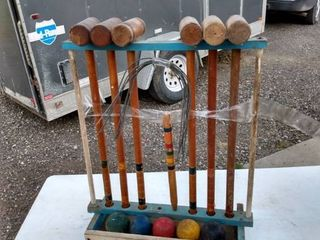 vintage croquet set there s only five balls