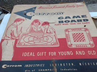 carrom game board an original box looks new
