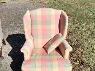 nice clean wingback chair