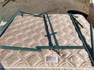 king size bed frame comes with Sealy posturepedic coronation ultra four mattress and two box springs