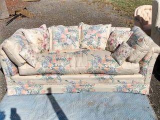 nice clean floral print sofa