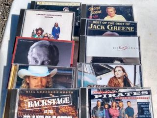 10 mixed country CDs