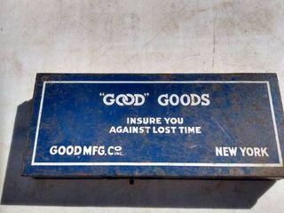 good goods metal assortment box and contents