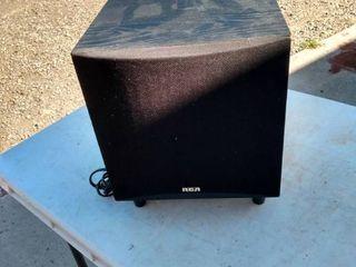 RCA 60 watt powered subwoofer