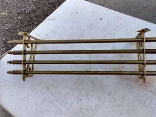brass wall shell 20 in wide 6 in deep 7 in tall