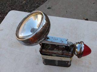 vintage radar light by Burgess